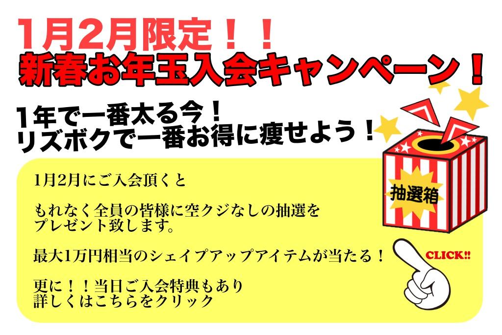 ピックアップ(20190112 新春キャンペーン)